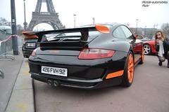 Porsche 911 GT3 RS 997 & beautiful photograph (Monde-Auto Passion Photos) Tags: auto automobile porsche 911 gt3 997 coup france rally paris supercar sportive evenement girl photographe