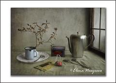 Tea time (Elena Nosyreva) Tags: stilllife tea window spoon texture