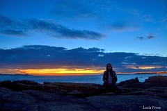 Sunset (lpcobian) Tags: galicia areas pontevedra spain espaa sky sunset skyline nature evening puestasol sol sun beach playa ocean atlantic oceano atlantico me turismo tourism travel daytrip