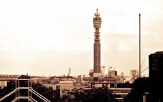London skyline (Kez West) Tags: london city bttower buildings roof cityscape greatbritain uk capital postprocessed sepia architecture htt