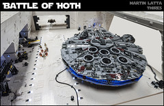 Star Wars: Battle of Hoth (thire5) Tags: star wars hoth atat darth vader luke skywalker indoor millennium falcon xwing leia han solo chewbacca snowspeeder imperium rebels base bacta hangar snowtrooper