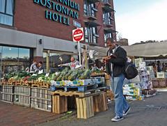 BostonReadThruHaymarket (fotosqrrl) Tags: boston massachusetts streetphotography urban blackstonestreet northstreet haymarket reading