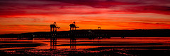 Industrial Sunset Forever (Brian Travelling) Tags: photoshop photography photograph sunset sunsetsandsilhouettes sundown sun sunlight colours coloursofscotland colourful reflection water riverclyde firthofclyde northayrshire scotland scenery scenic scottish scots 31