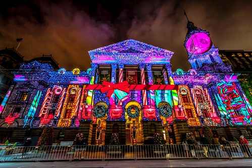 Melbourne Town Hall Xmas Projections-8