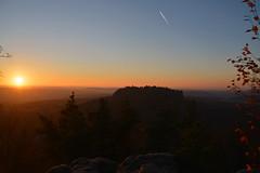 Sunset (Sandsteiner) Tags: sunset sonnenuntergang herbst landschaft papststein gohrisch elbsandsteingebirge sandsteiner