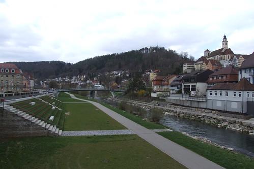 Promenade along Neckar River, 08.04.2012.