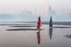 MYI_6107 (yaman ibrahim) Tags: india agra nikon d3 tajmahal yamuna morning water saree mis misty