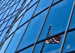 Red White and BLUE (chauvin.bill) Tags: hbm bluemonday reflection happybluemonday curvedglass