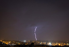Split Tip Hit Lightning Thunderstorm Roanoke (Terry Aldhizer) Tags: city sky storm roanoke bolt bolts lightning thunder aldhizer terryaldhizercom
