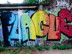 Baksteen met graffiti (MJ Klaver) Tags: brick wall graffiti utrecht bricks brickwork baksteen bakstenen s120 canonpowershots120 anderskijken powershots120