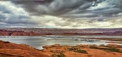 LET'S PLAY LEAP FROG (Irene2727) Tags: sky nature water clouds landscape bay utah redrocks waterscape bullfrogmarina
