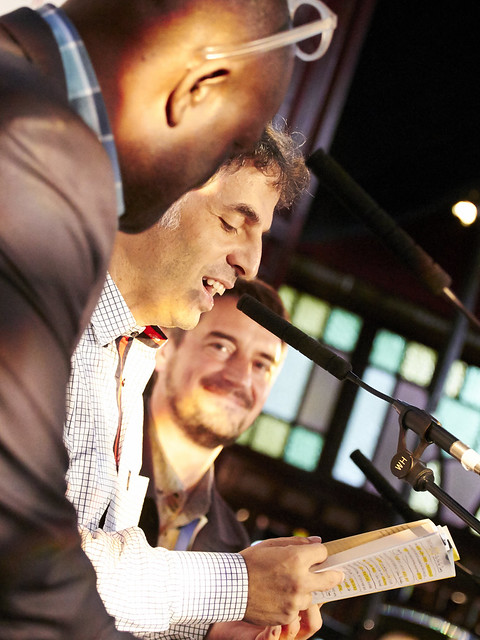 Alain Mabanckou & Etgar Keret with their Chair Nick Barley