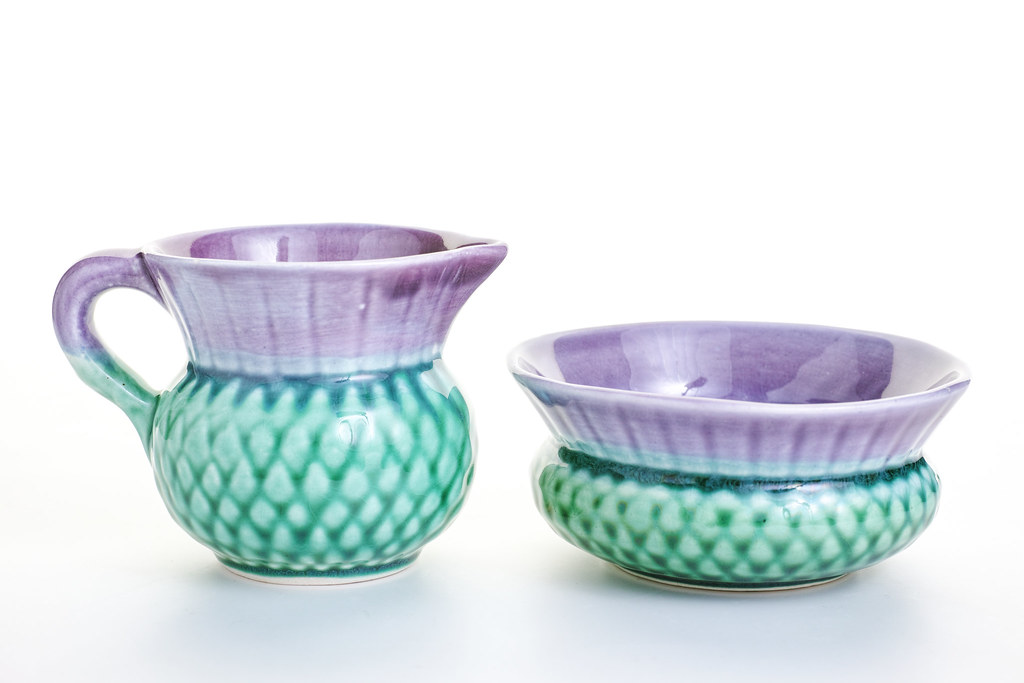 Sid Sharpe - Campsie ware Thistle Jug and bowl