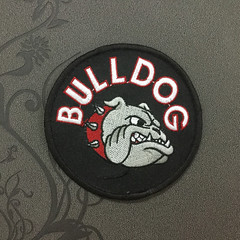 Bulldog patch Iron on patch Iron on Applique hat patch bag patch Embroidered Iron-On Patches sew on patches (edwardCepheus) Tags: dog animal bag iron punk bulldog patch applique patches