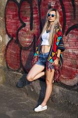 AJ3 (daamiank) Tags: portrait people colors wall 50mm glasses women grafiti poland nikkor d90