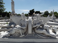 Cementerio de Cristóbal Colón (jericl cat) Tags: shirtless sculpture men cemetery wheel de mercury cementerio havana cuba stunning worker cuban christophercolumbus habana winged necropolis colón 2015 cristóbal