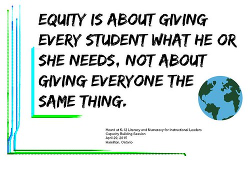 "Educational Postcard: ""Equity is about g by Ken Whytock, on Flickr"