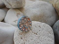 DSCN3165 (katerina66) Tags: texture ring polymerclay polymer handmadejewellery fauxceramic