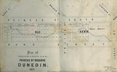 Princes Street Reserve 1871 (Dunedin City Council Archives) Tags: reserve princesstreet plan historic dunedin