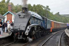 60007 Sir Nigel Gresley Grosmont 20/9/15 (David K- IOM Pics) Tags: heritage train pacific yorkshire north railway steam event farewell moors sir a4 nigel pickering grosmont nymr gresley 60007 sirnigelgresely