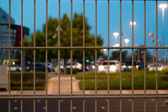 Behind The Cage (Ahmad-Salah) Tags: road street sky beautiful car night mall photography evening photo amazing nikon time outdoor uae like symmetry abudhabi share comment d3200
