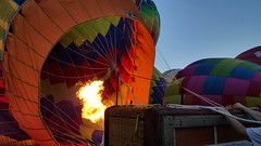 Now the warm air gets added to help the balloon rise