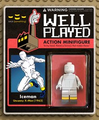 Iceman (Classic) on Card (ka.lego) Tags: illustration comics toy actionfigure dc lego cartoon fantasy figure minifig superheroes custom marvel mattel minifigure
