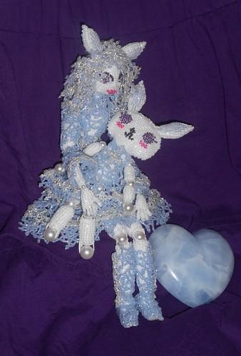 Kawaii Snegurochka & Snow Bunny