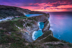 Stair Hole and Lulworth Cove. (289RAW) Tags: uk november sea england seascape clouds sunrise canon landscape dawn cove worldheritagesite filter lee dorset nd jurassic 1740 graduated lulworth 6d purbecks 2015 seascpae 289raw 289rawphotography