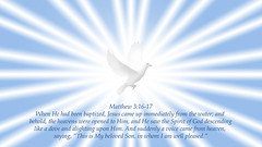 Matthew 3:16-17 (ChristianArtist) Tags: saved usa love church angel wonderful found lost hope heaven peace god sleep dove awesome faith unitedstatesofamerica prayer pray jesus christian holy glorious angels bible creator spiritual eternity salvation amen archangel scripture repent sinner humble judgment almighty courage confess jesuschrist omnipotent repentance holybible hallelujah righteous warfare godislove holyspirit thirdheaven wordofgod judgmentday kingofkings whitedove princeofpeace glorify armorofgod praisegod alphaandomega wordbecameflesh godthefather bestrong thelordismyshepherd godthecreator humbleyourself christthecreator aliveforevermore christwhostrengthensme