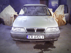 0188_blacharka (GekusR) Tags: white car gold si wheels poland rover springs lip british gti sei cracow lowered wannabe spoiler slammed 216 newpaint 214 k16 sportseats jamex dailydriven 14k4f 16k4f 18k4f