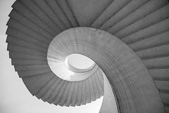 Shell Side (TS446Photo) Tags: camera light sky blackandwhite bw sun white black detail monochrome architecture club stairs spiral mono nikon steps shell poland warsaw reach 20mm dslr d600 nikond600 nikon20mm
