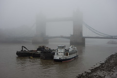 Foggy Tower Bridge (Spannarama) Tags: uk mist london water fog thames towerbridge river boats