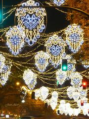 Luces Navideas 2015. Calle Goya (Madrid) (Juan Alcor) Tags: madrid navidad luces calle goya nocturno lucesnavideas