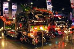 Dekotora Firetrucks (Justin Young Photography) Tags: cars philippines elf fuso mitsubishi canter isuzu transsportshow dekotora