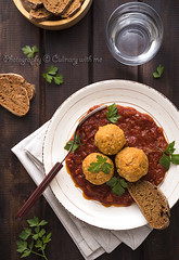 Spiced red lentil patties with tomato sauce (vanilllaph) Tags: spiced red lentil pattie kofte tomato sauce bread cup water turkish cuisine kitchen table wood parsley plate portion dish lunch dinner vegan vegetarian ball brown bright colorful vertical stilllife recipe cook cookbook cooking cooked eat eating food traditional delicious tasty spicy mixture