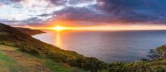 Cornish Sunrise (martin.bigmore) Tags: beach cliff cornwall coast coastal daybreak rocks sunrise sun clouds panoramic