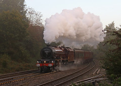 Misty Morning (Treflyn) Tags: misty morning stanier 6201 princesselizabeth southcote junction reading london paddington minehead westsomersetsteamexpress charter