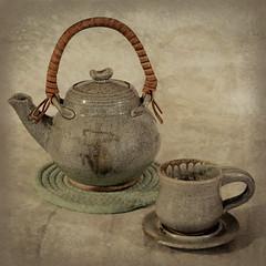 Wabi-Sabi (lclower19) Tags: takeaim wabisabi teapot imperfect cup saucer texture citrasolv still life square
