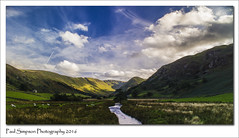 Martindale Valley (Paul Simpson Photography) Tags: lakedistrict cumbria hills fells countryside paulsimpsonphotography photoof photosof imageof imagesof nature niceviews martindalecommon england englishlakes september2016 sonya77 bluesky stream valley viewsof mountains