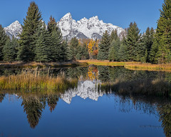The Cathedral Group (joycarl) Tags: tetons grandteton cathedralgroup autumn reflection mountains