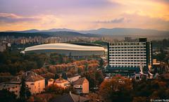 Cetatuia (Lucian Nuță) Tags: clujnapoca cluj napoca romania 2016 sunset landscape toamna autumn arena stadium