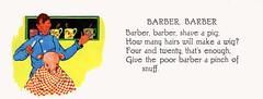 Barber, Barber (katinthecupboard) Tags: vintagechildrensillustrations nurseryrhymes mothergoose charlottestone pigs