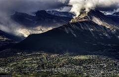Sion 2 (rogerarmfelt) Tags: switzerland sion veysonnaz rhonevalley mountains alps sunlight clouds