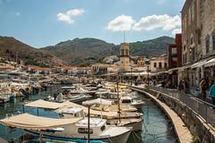 Hydra - Harbourside Shops (Le Monde1) Tags: greece island hydra port coast monastery greek lemonde1 nikon d800e saronicislands aegean sea town harbourside shops restaurants boats yachts donkeys