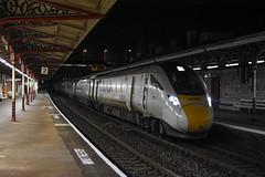 Strange things come out at Halloween. (Teignstu) Tags: teignmouth devon railway station night class800 800001 800002