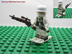 LEGO German WWII Winter Recon Sniper (dmikeyb) Tags: lego german wwii war minifig minifigure custom soldier weapon uniform luftwaffe recon sniper panzer panzerfaust general officer