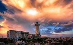 Explosive sunset at the lighthouse (raffaeledirosa) Tags: lighthouse faro seascape landscapes sunset light sicilia sicily siracusa