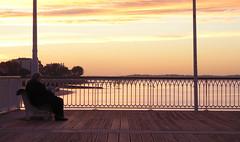 Arcachon, Hors Saison - Off Season (blafond) Tags: arcachon stationbalnaire seasideresort horssaison offseason coucherdesoleil sunset solitude seul alonesurlajete onthepier