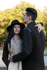 (Christina Colfer) Tags: people girl boy park autumn atmosphere yellow canon latvia riga young model outside outdoor outdoors couple background hug smile women man europe enjoy relax tree trees color colors portrait soft